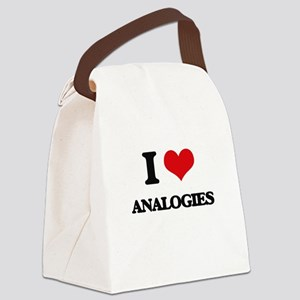 I Love Analogies Canvas Lunch Bag