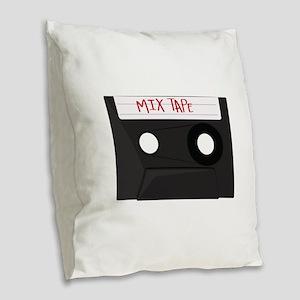 Mix Tape Burlap Throw Pillow