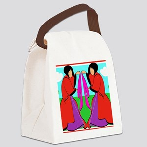 Two Ladies Canvas Lunch Bag