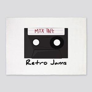 Retro Jams 5'x7'Area Rug