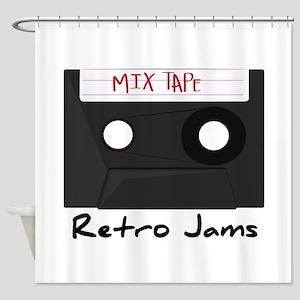 Retro Jams Shower Curtain