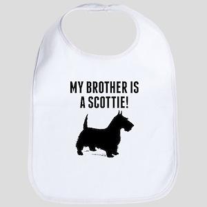 My Brother Is A Scottie Bib