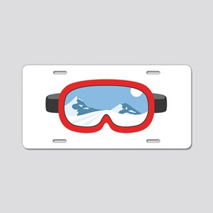 Ski Mask Aluminum License Plate
