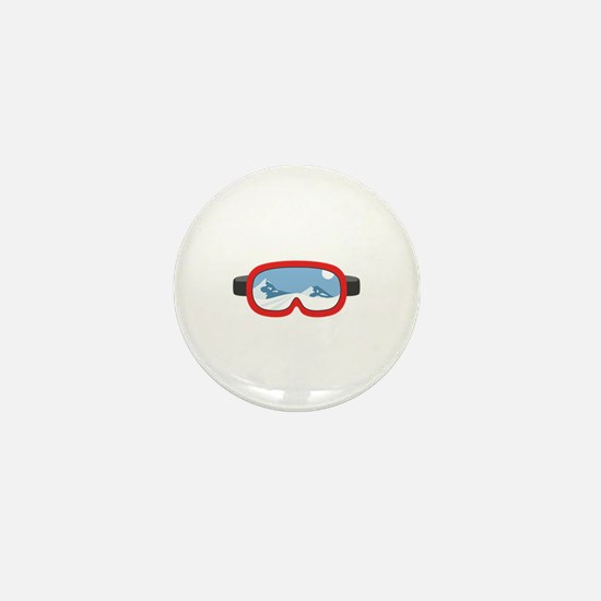 Ski Mask Mini Button