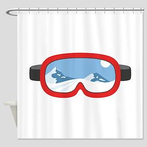 Ski Mask Shower Curtain