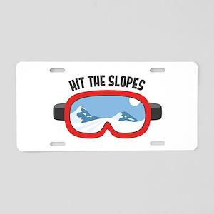Hit the Slopes Aluminum License Plate