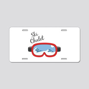 Ski Chalet Aluminum License Plate
