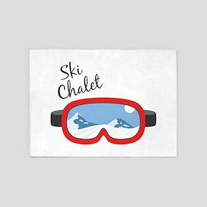 Ski Chalet 5'x7'Area Rug
