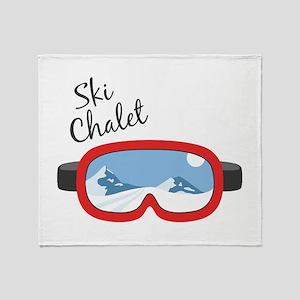 Ski Chalet Throw Blanket