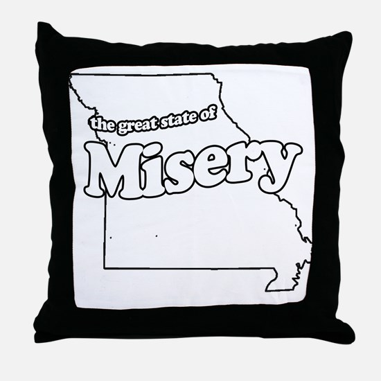The Great State of Misery Throw Pillow