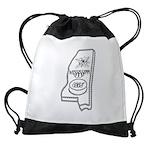 MS ICES State Logo Drawstring Bag