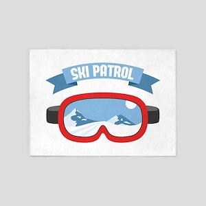 Ski Patrol Mask 5'x7'Area Rug