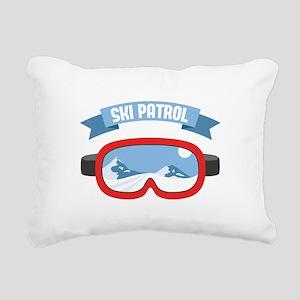 Ski Patrol Mask Rectangular Canvas Pillow