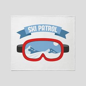 Ski Patrol Mask Throw Blanket