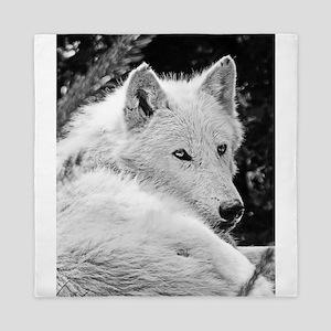 Gorgeous White Wolf Queen Duvet