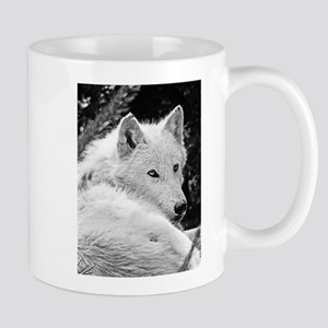 Gorgeous White Wolf Mugs