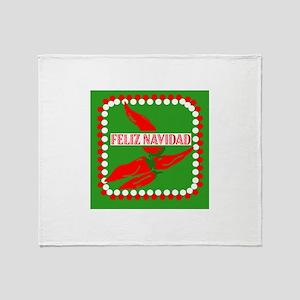 Feliz Navidad Peppers Throw Blanket