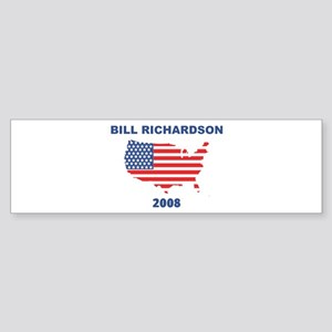 BILL RICHARDSON 2008 (US Flag Bumper Sticker