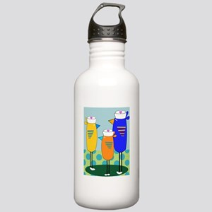 Whimsical Nurse Birds Water Bottle