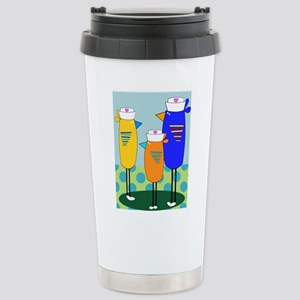 Whimsical Nurse Birds Travel Mug