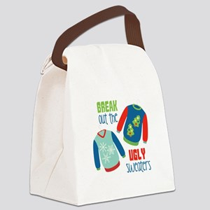 Break out the sweaters Canvas Lunch Bag