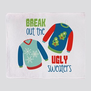 Break out the sweaters Throw Blanket