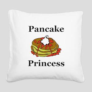 Pancake Princess Square Canvas Pillow