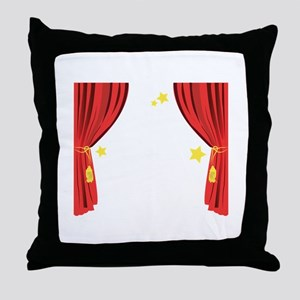 Stage Curtain Throw Pillow