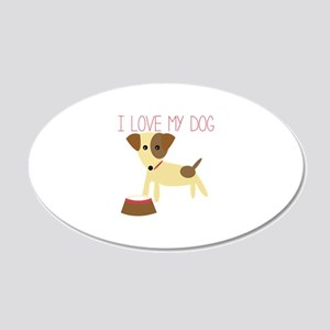 Love My Dog Wall Decal