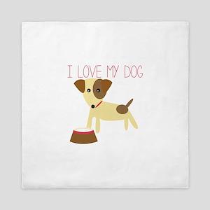 Love My Dog Queen Duvet