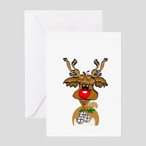 reindeer1 Greeting Cards