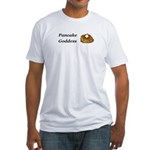 Pancake Goddess Fitted T-Shirt