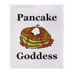 Pancake Goddess Throw Blanket