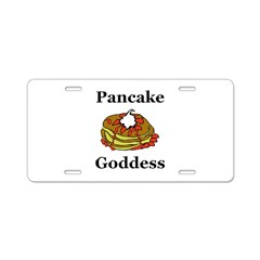 Pancake Goddess Aluminum License Plate