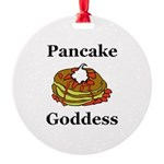 Pancake Goddess Round Ornament