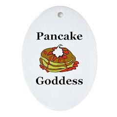 Pancake Goddess Ornament (Oval)