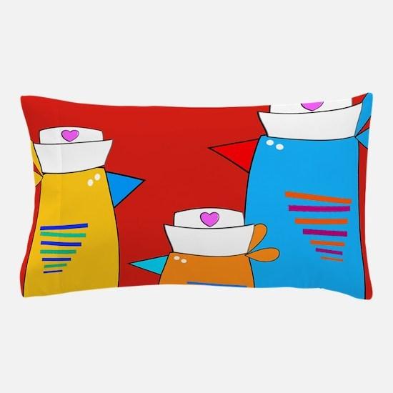 Whimsical Nurse Birds Pillow Case