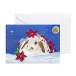 Christmas Rabbit Greeting Cards (pk Of 10)