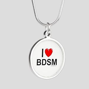 BDSM Silver Round Necklace