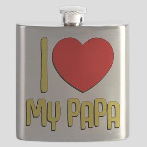 I Heart My Papa Flask