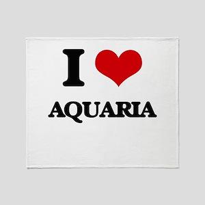 I Love Aquaria Throw Blanket