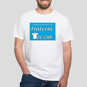 Celebrate maternity with Materni-Tee.com White T-S