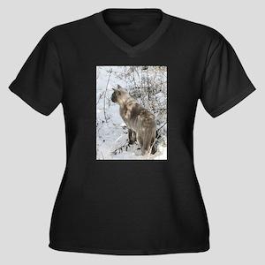 Burmese Cat in snow Plus Size T-Shirt