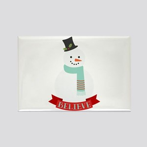 Believe Snowman Magnets