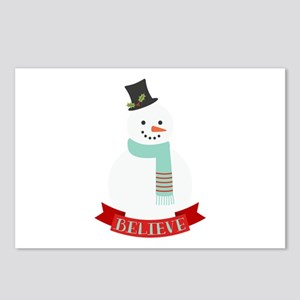 Believe Snowman Postcards (Package of 8)