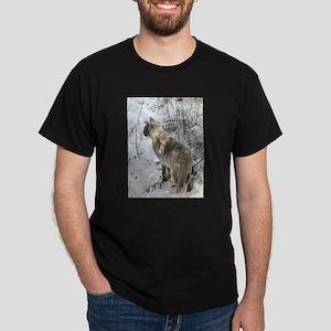 Burmese Cat in snow T-Shirt
