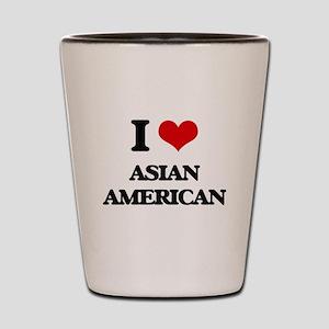 I Love Asian-American Shot Glass