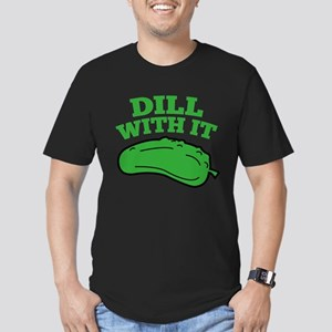 Dill With It Men's Fitted T-Shirt (dark)
