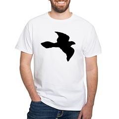 Flying Bird Icon White T-Shirt