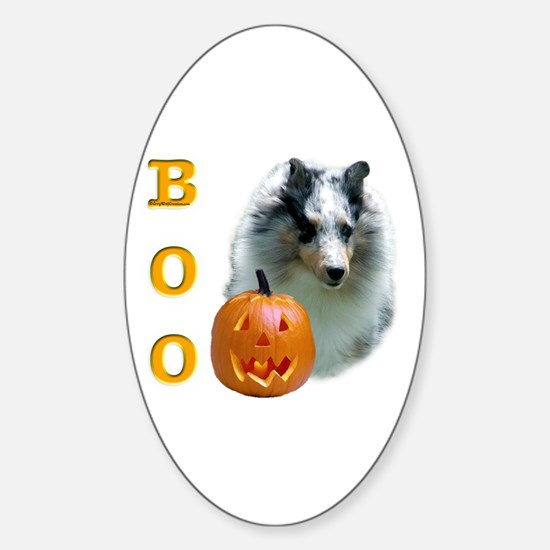 Sheltie(mrl) Boo Oval Decal